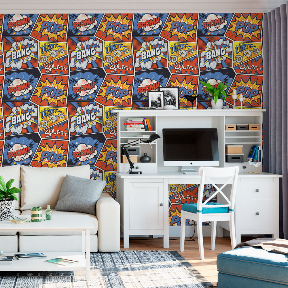 Papel de Parede Pop Art Retro