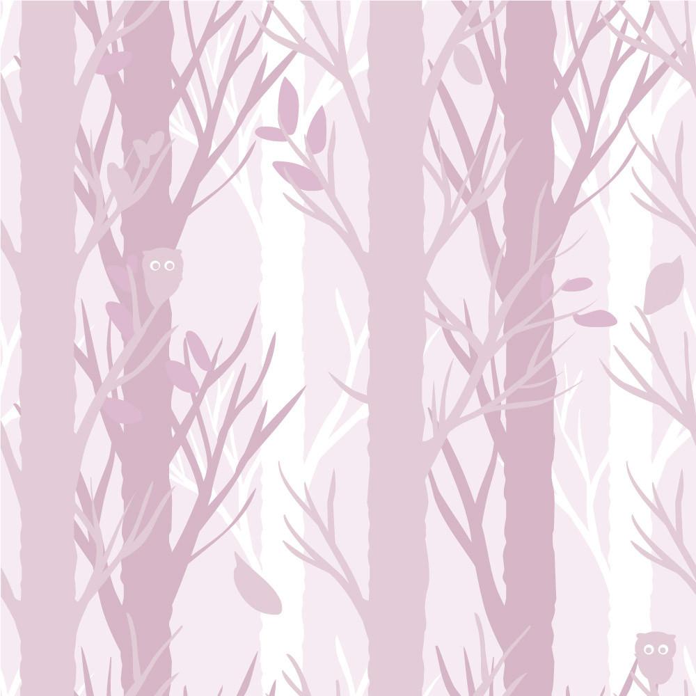 Papel de Parede Árvores (Rosa)