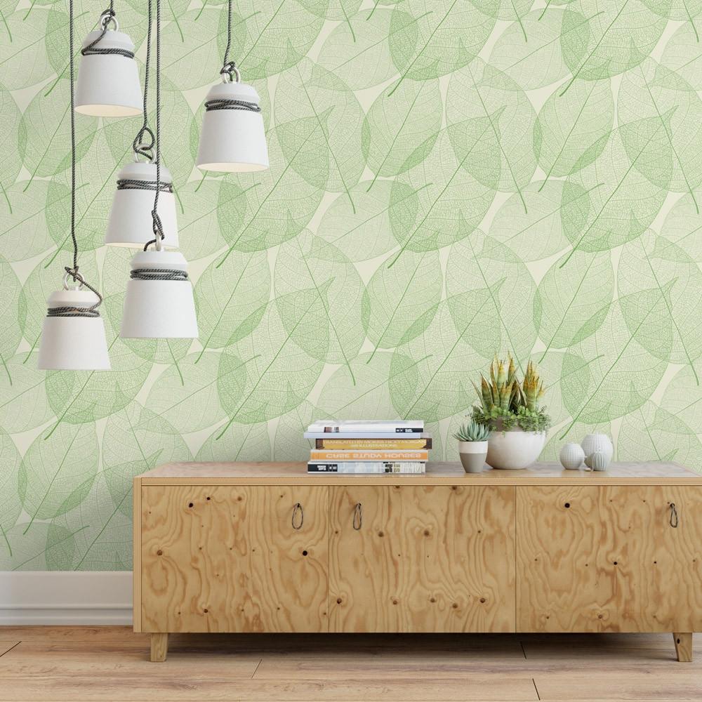 Papel de parede folhas secas ii modelo exclusivo bemcolar - Papel para revestir paredes ...