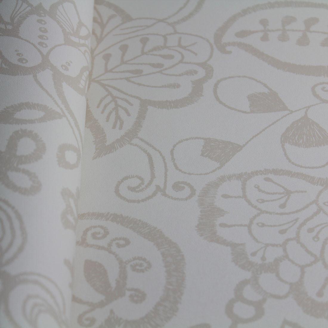 Papel de Parede Muresco Allegra Vinilico Floral Bordado