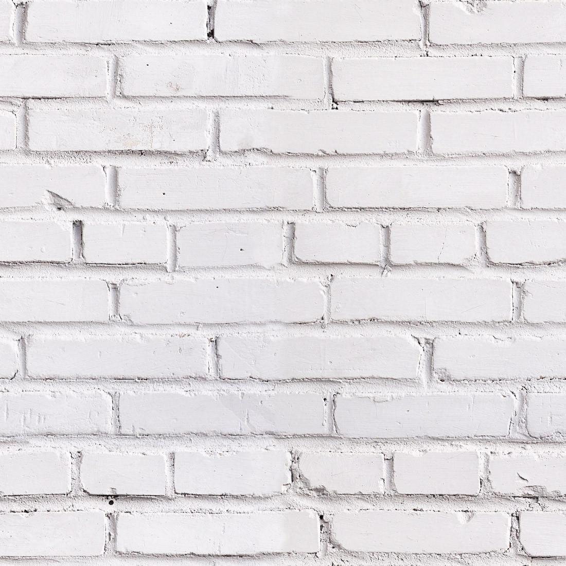 Papel de Parede Adesivo branco com Tijolos