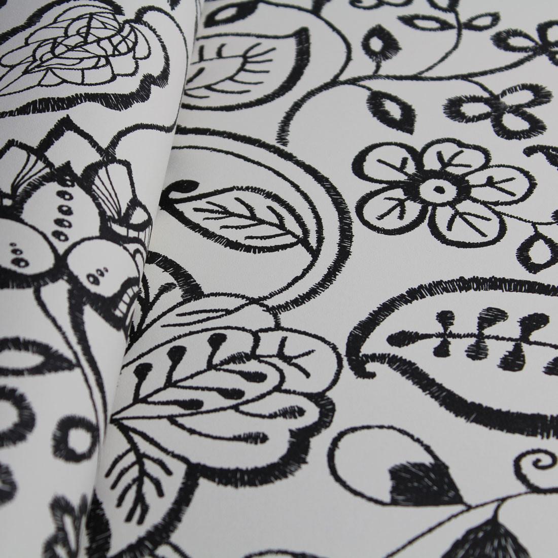 Papel de Parede Muresco Allegra Floral Preto
