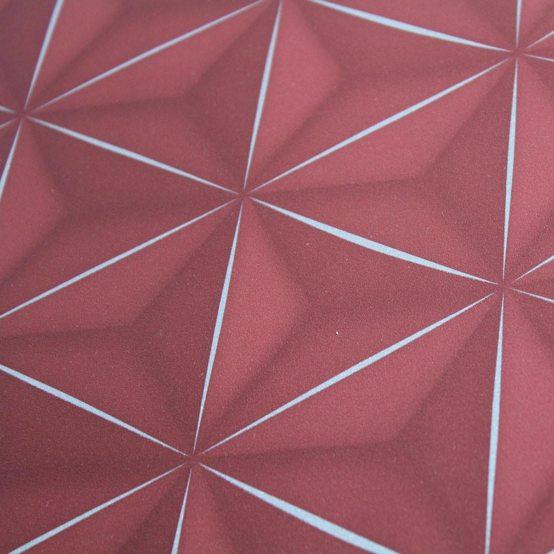 Papel de Parede Muresco Allegra 3D Vermelho