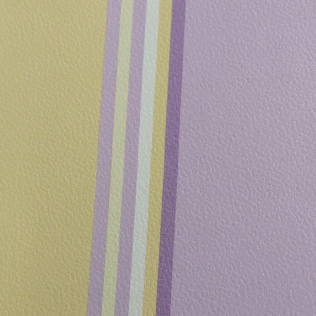 Papel de Parede Infantil Listras - Lilás e Amarelo - Has#Tag