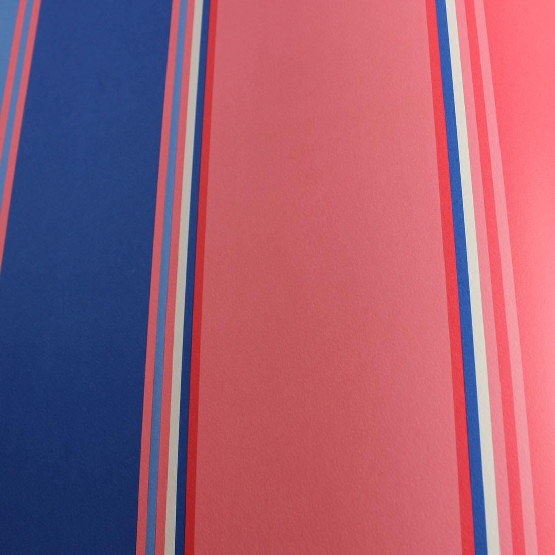 Papel de Parede Infantil Listras - Vermelho e Azul - Has#Tag
