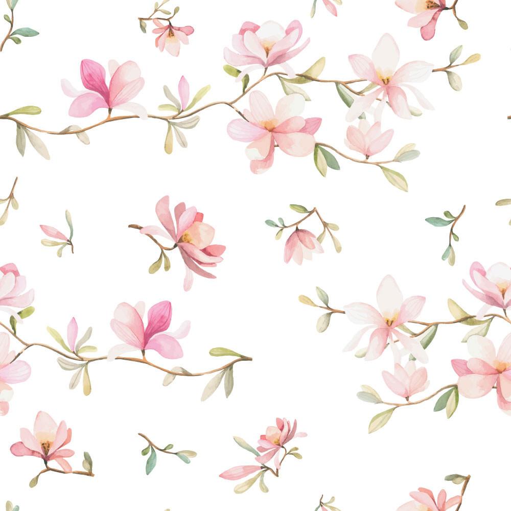 Papel de Parede Infantil Floral