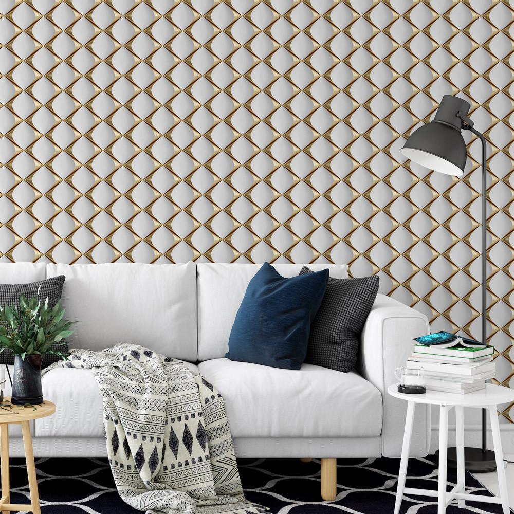 Papel de Parede 3D Gold Sofá