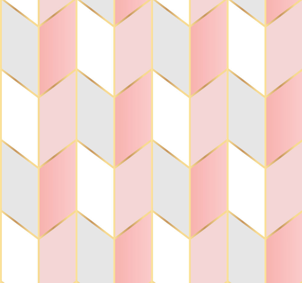 Papel de Parede Adesivo Geométrico Rose Gold