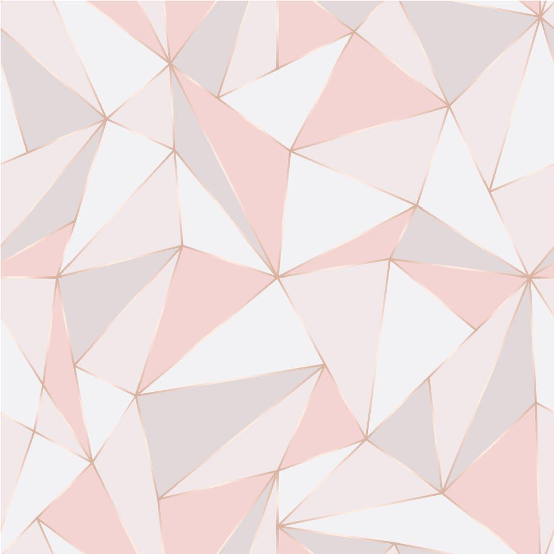 Papel de Parede Triângulos em Tons de Rosa Claro