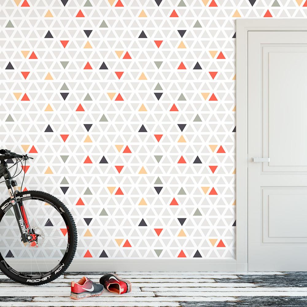 Papel de Parede Triângulos Coloridos