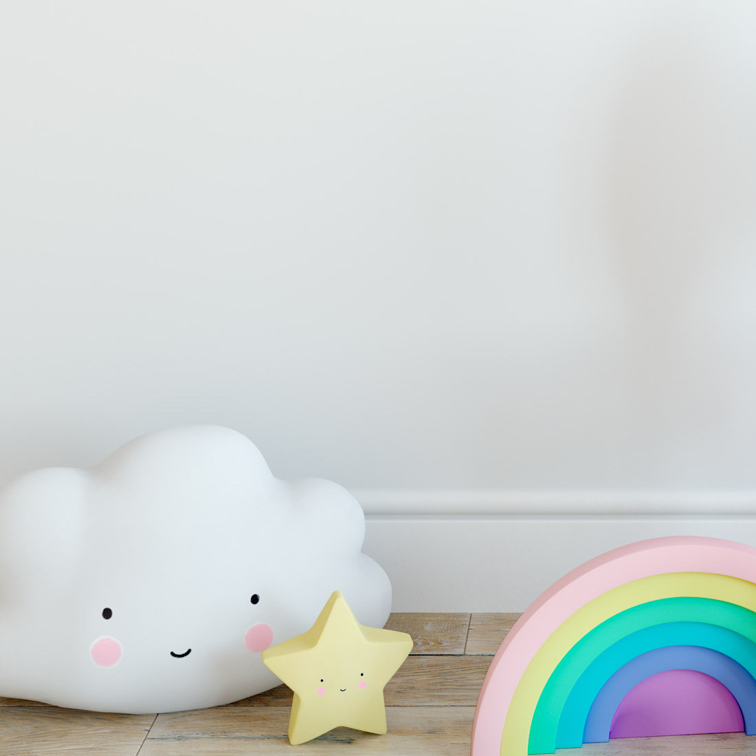 Papel de Parede Infantil Branco - Disney - Rolo com 10 Metros