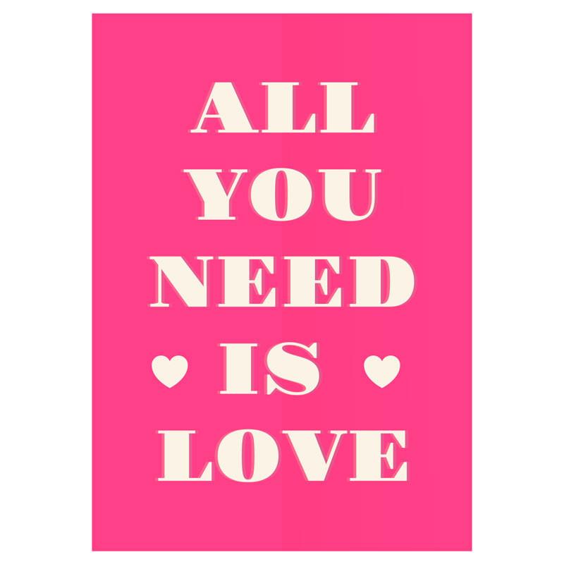 Quadro Decorativo Tudo que você precisa é amor