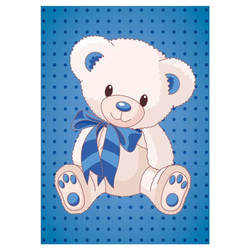 Poster Decorativo Infantil Urso Menino