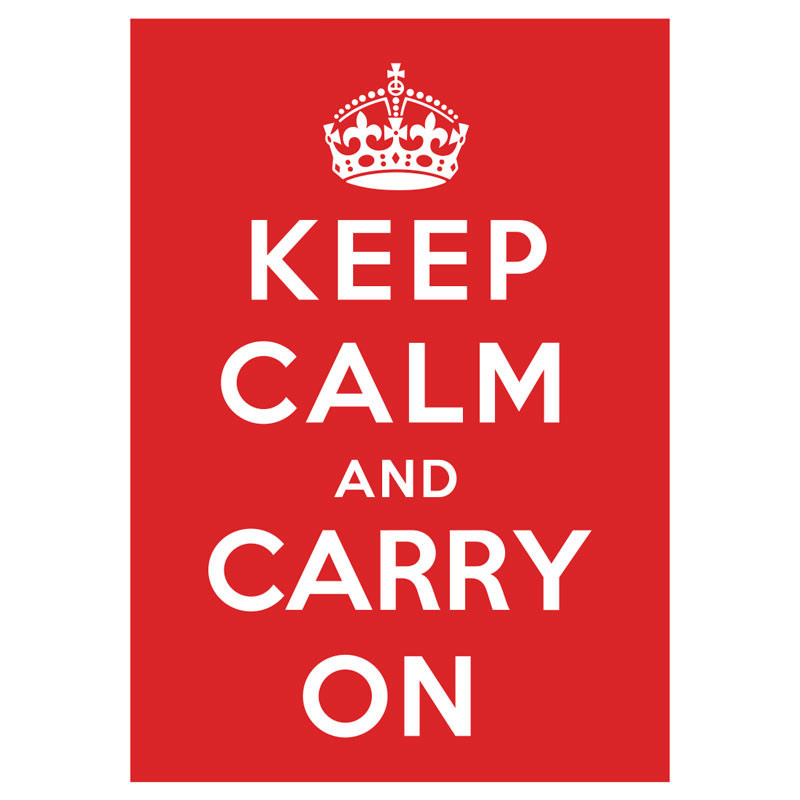 Poster Decorativo Keep Calm and Carry on