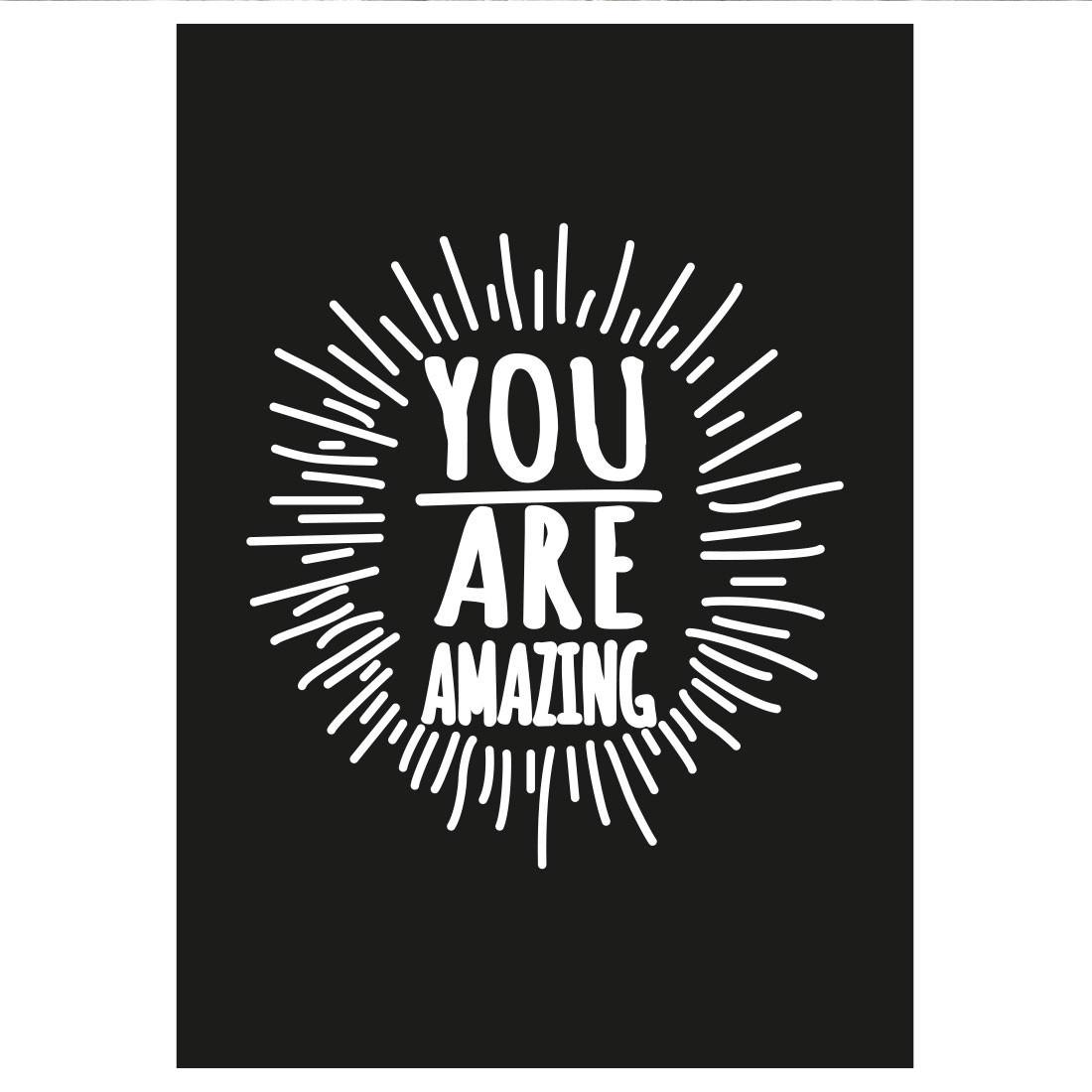 Poster Decorativo You Are Amazing (Preto)
