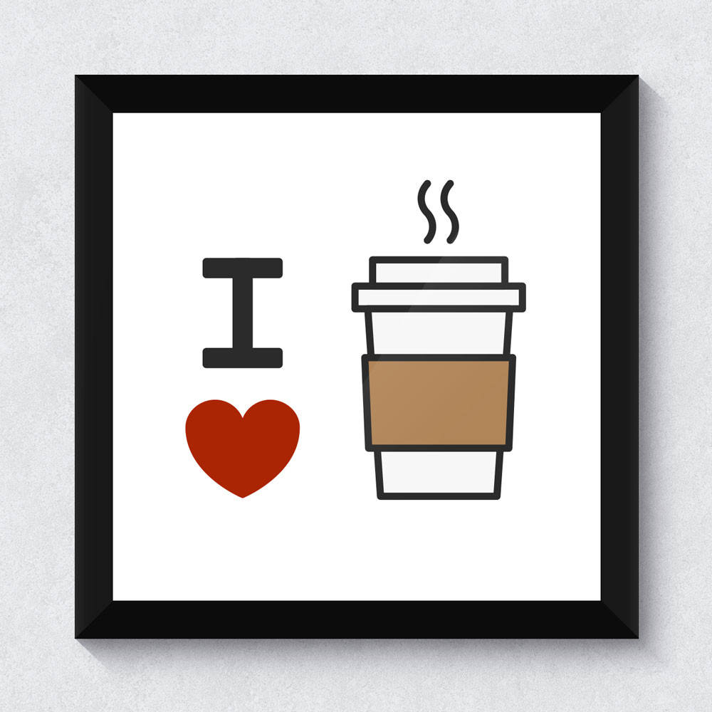 Quadrinho Decorativo I Love Coffe