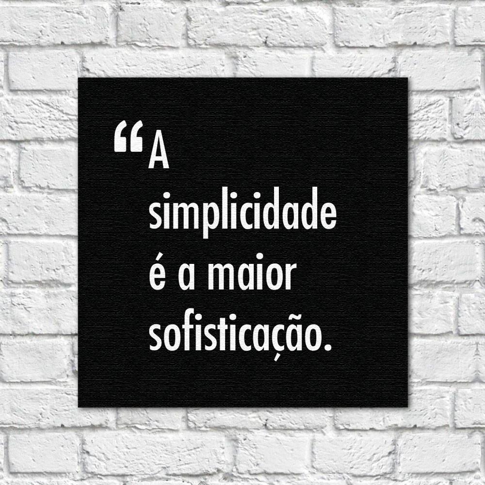 Quadro Decorativo Pensadores Simplicidade Sofisticação Preto