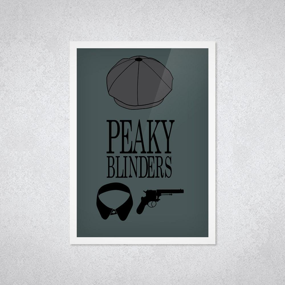 Quadro Decorativo Acessórios de Peaky Blinders