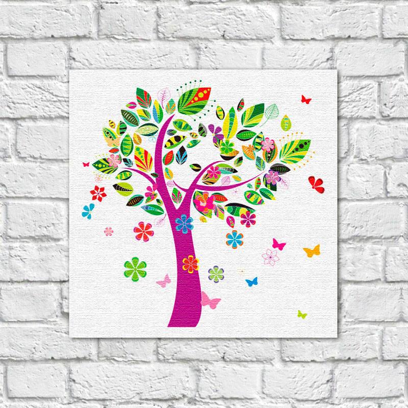 Quadro Decorativo Árvore Abstrata