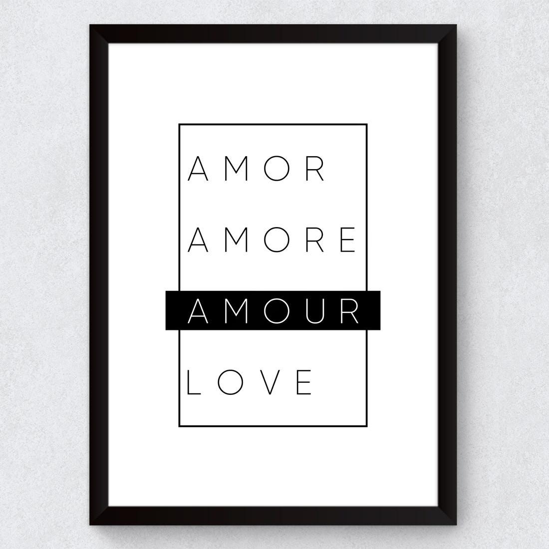 Quadro Decorativo Amour