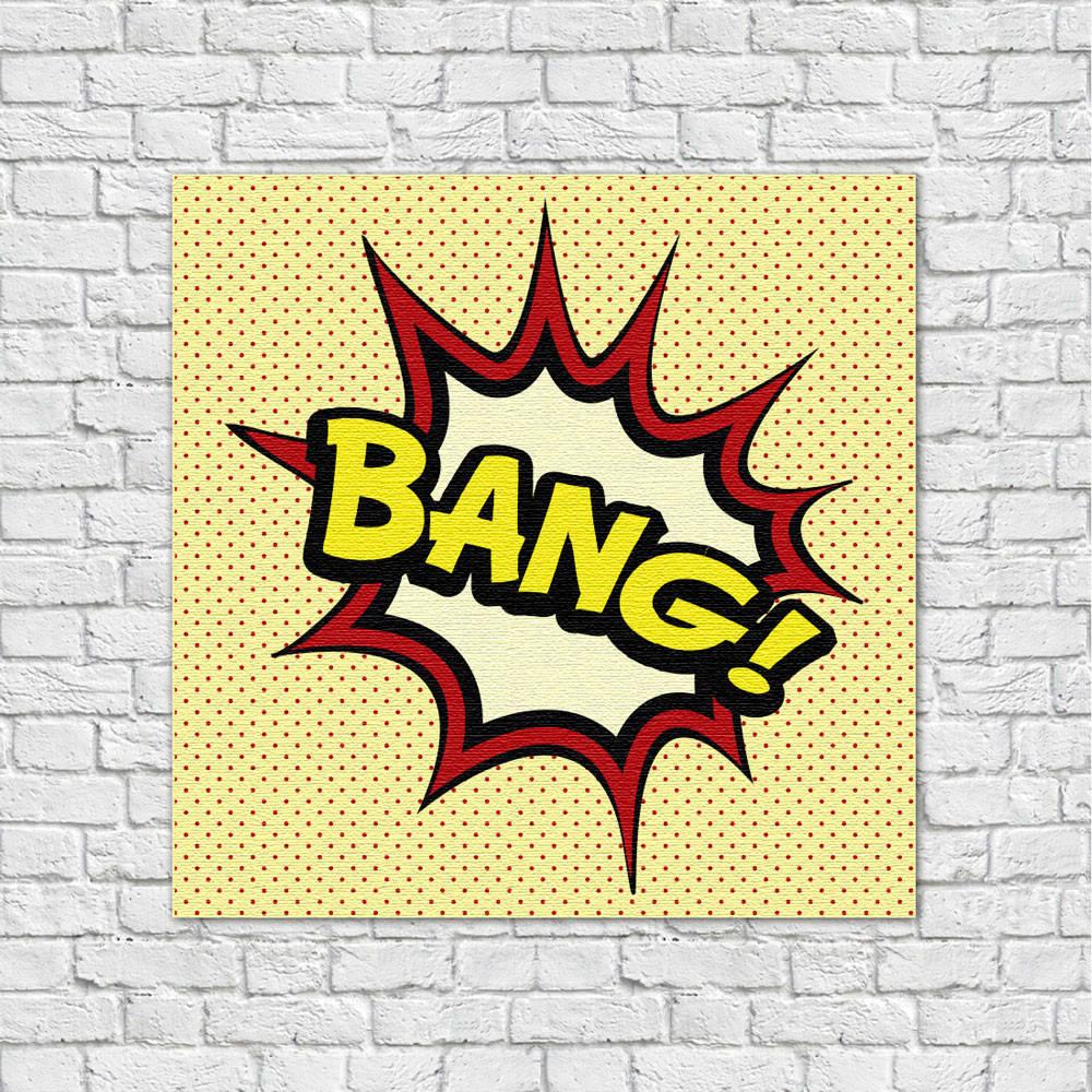 Quadro Decorativo Bang - Em Canvas