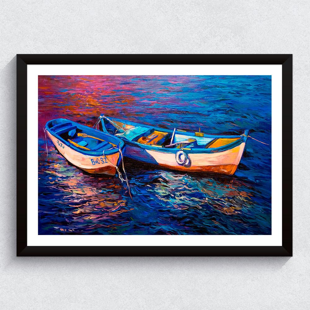 Quadro Decorativo Barco a Remo