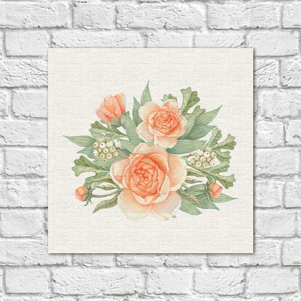 Quadro Decorativo Bouquet de Flores - Em Canvas