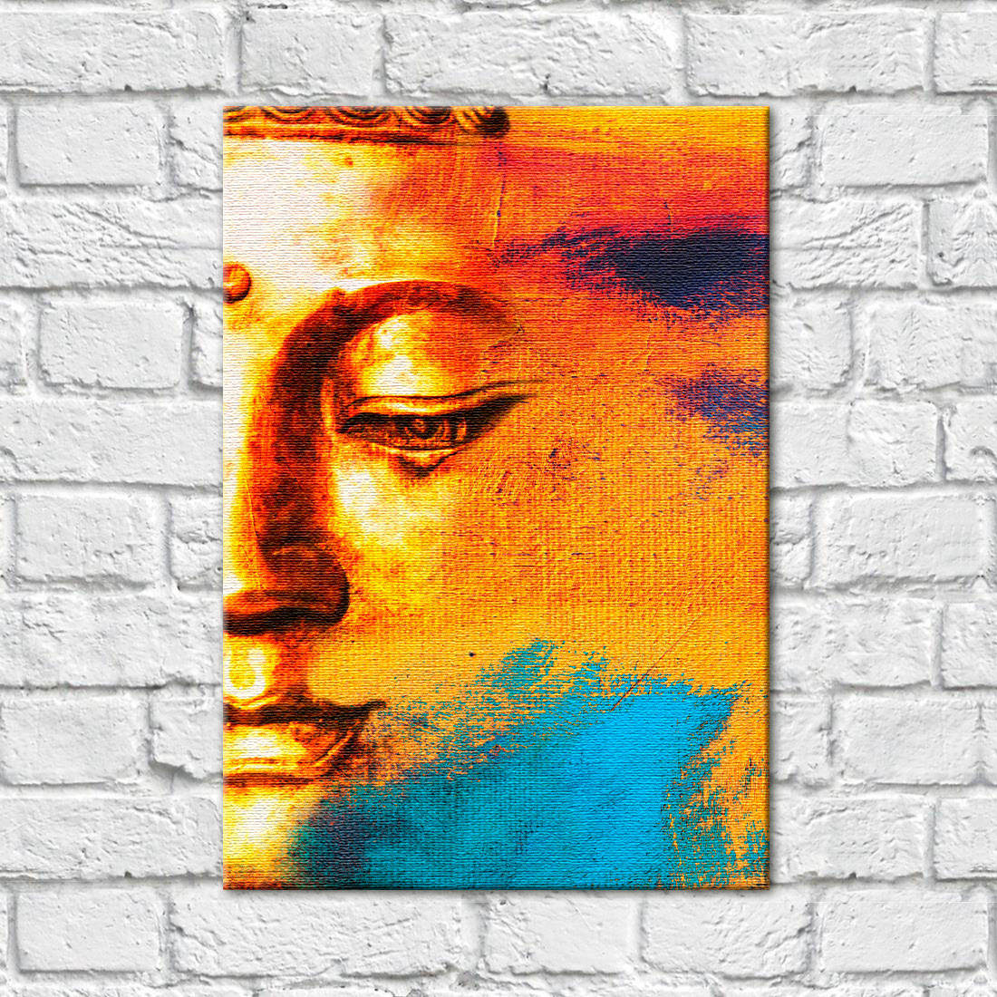 Quadro Decorativo Buddha Abstrato