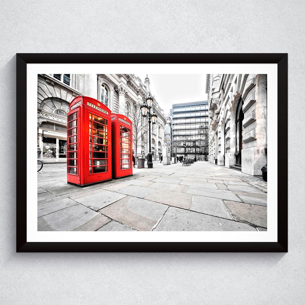 Quadro Decorativo Cabine Telefônica Londres (Fotografia)