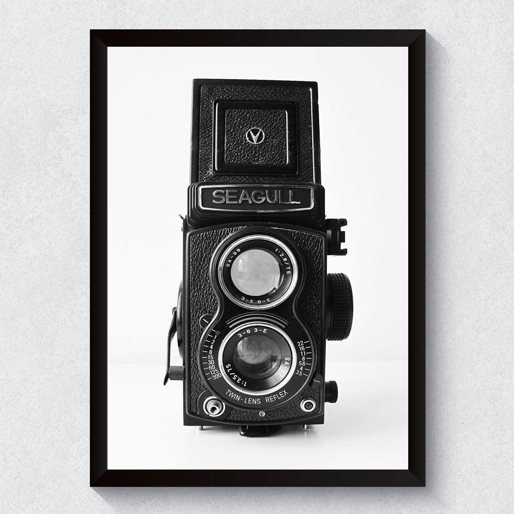 Quadro Decorativo Câmera Antiga