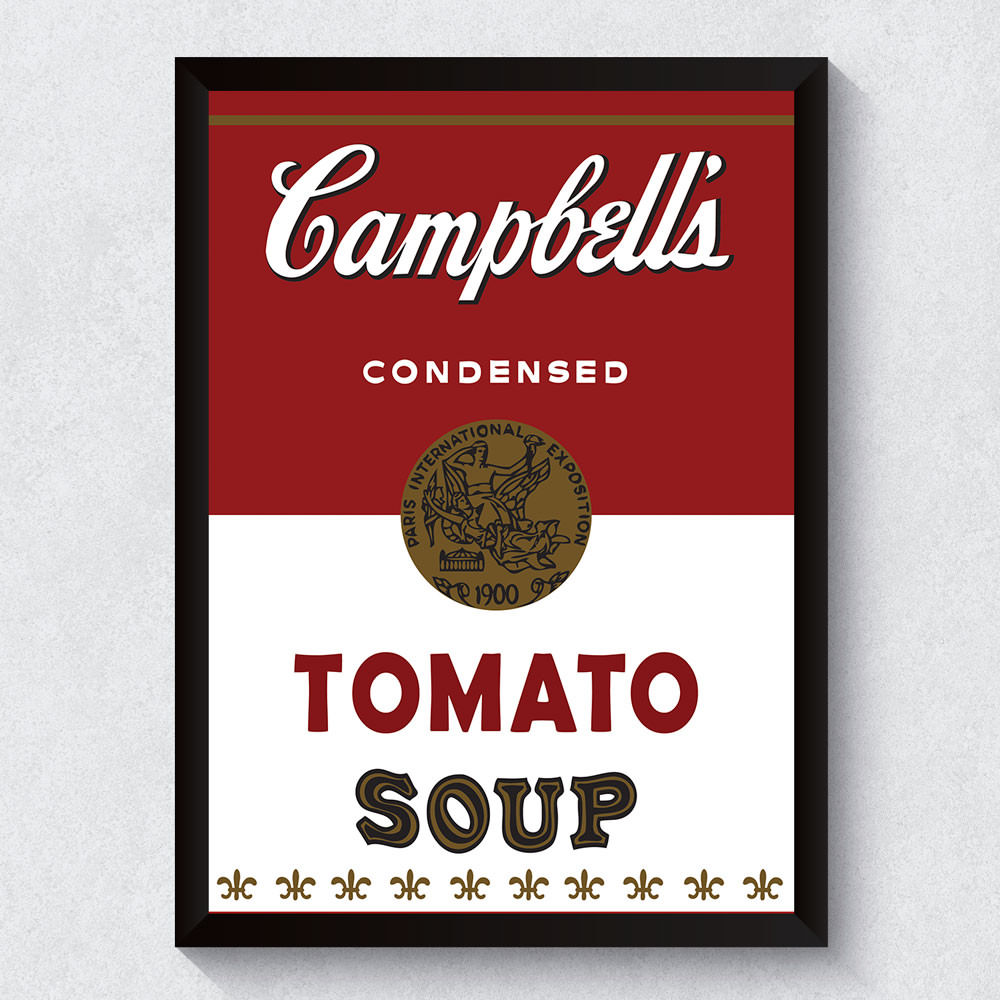 Quadro Decorativo Campbell's Tomato Soup