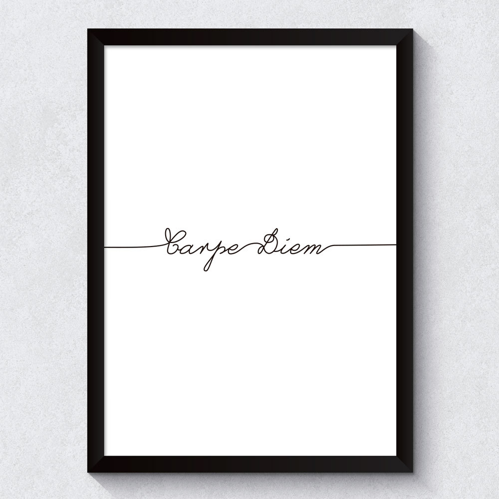 Quadro Decorativo Carpe Diem Minimalista