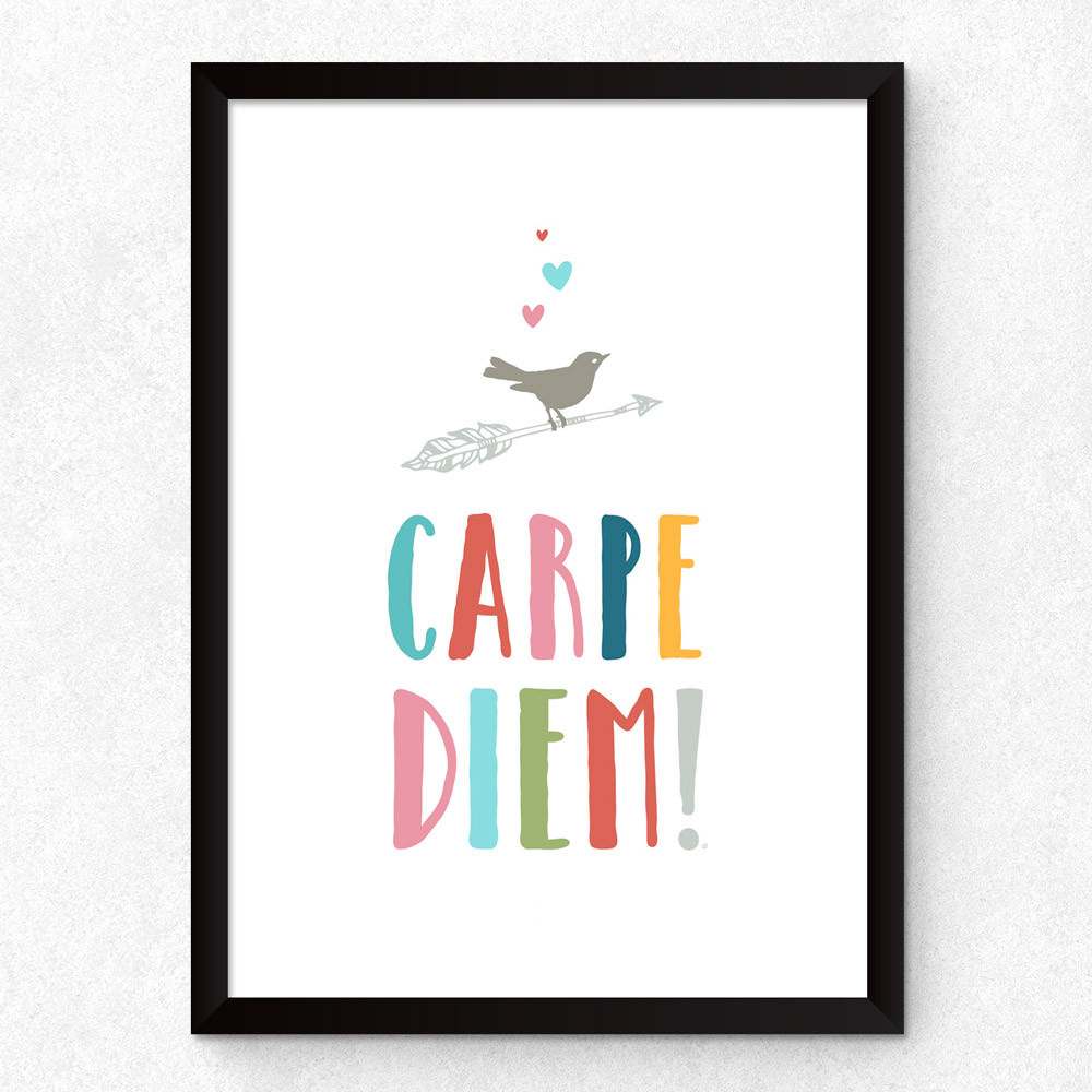Quadro Decorativo Frase Carpe Diem