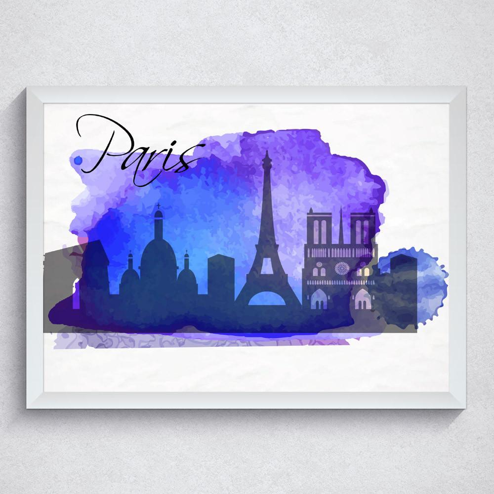 Quadro Decorativo Paris Torre Eiffel