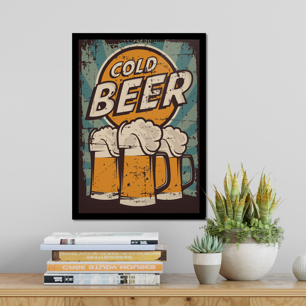 Quadro Decorativo Cold Beer Decorando Sala