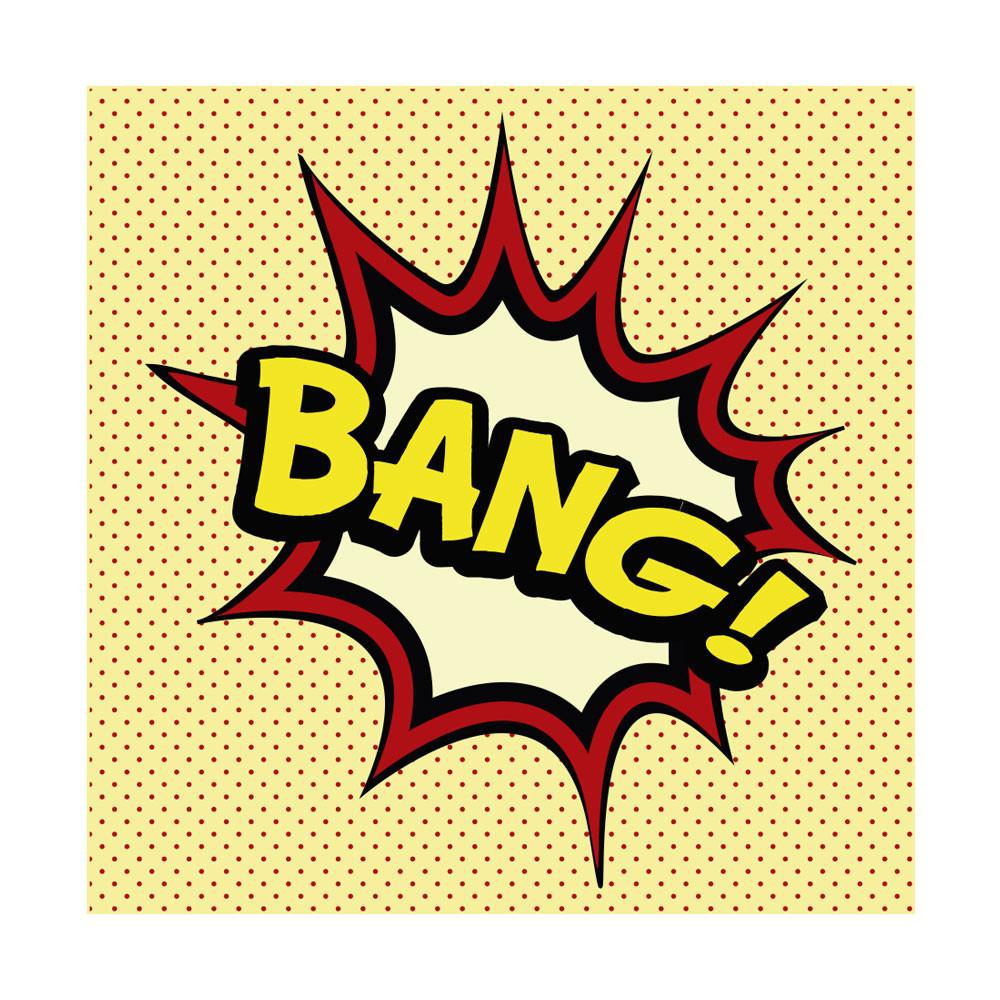 Quadro Decorativo Comic Sound Bang