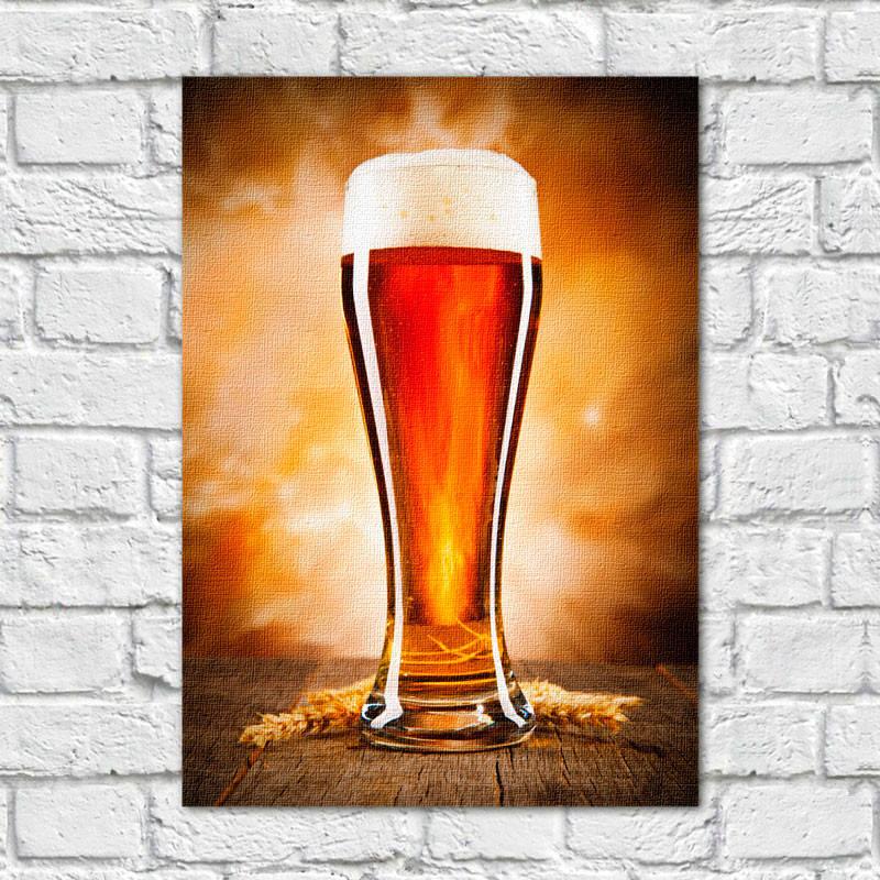 Quadro Decorativo Copo de Cerveja - Em Canvas
