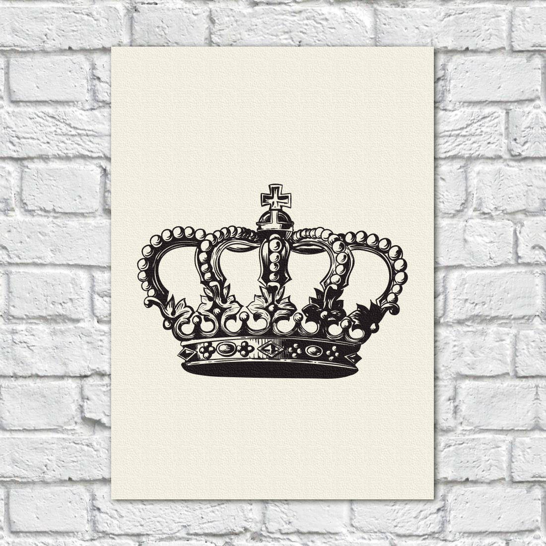Quadro Decorativo Coroa - Em Canvas