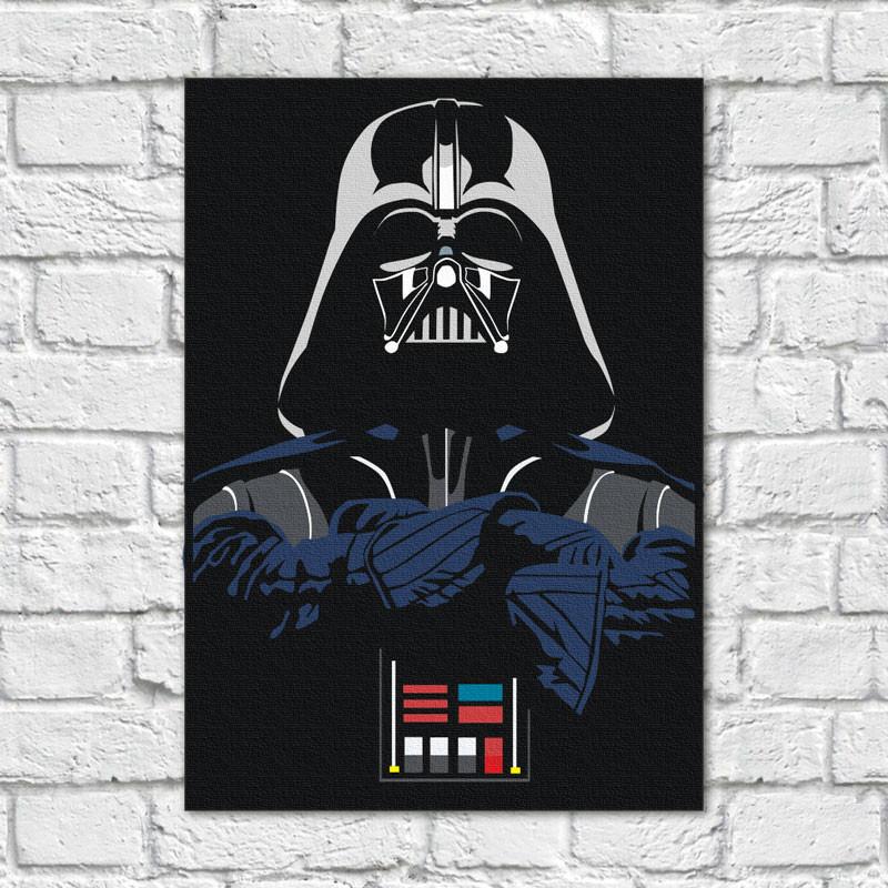 Quadro Decorativo Darth Vader - Em Canvas