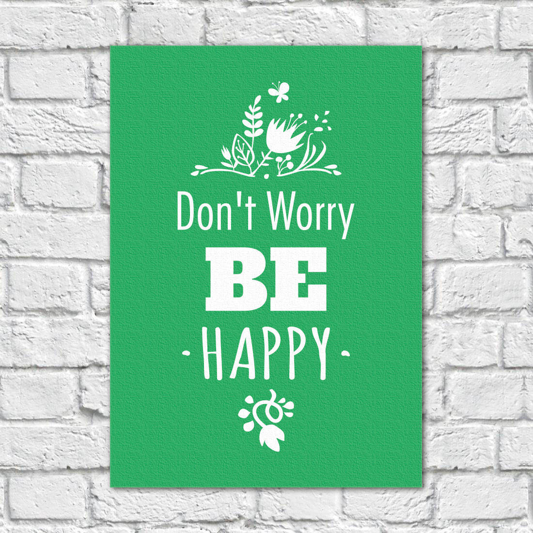Quadro Decorativo Dont Worry Be Happy - Em Canvas