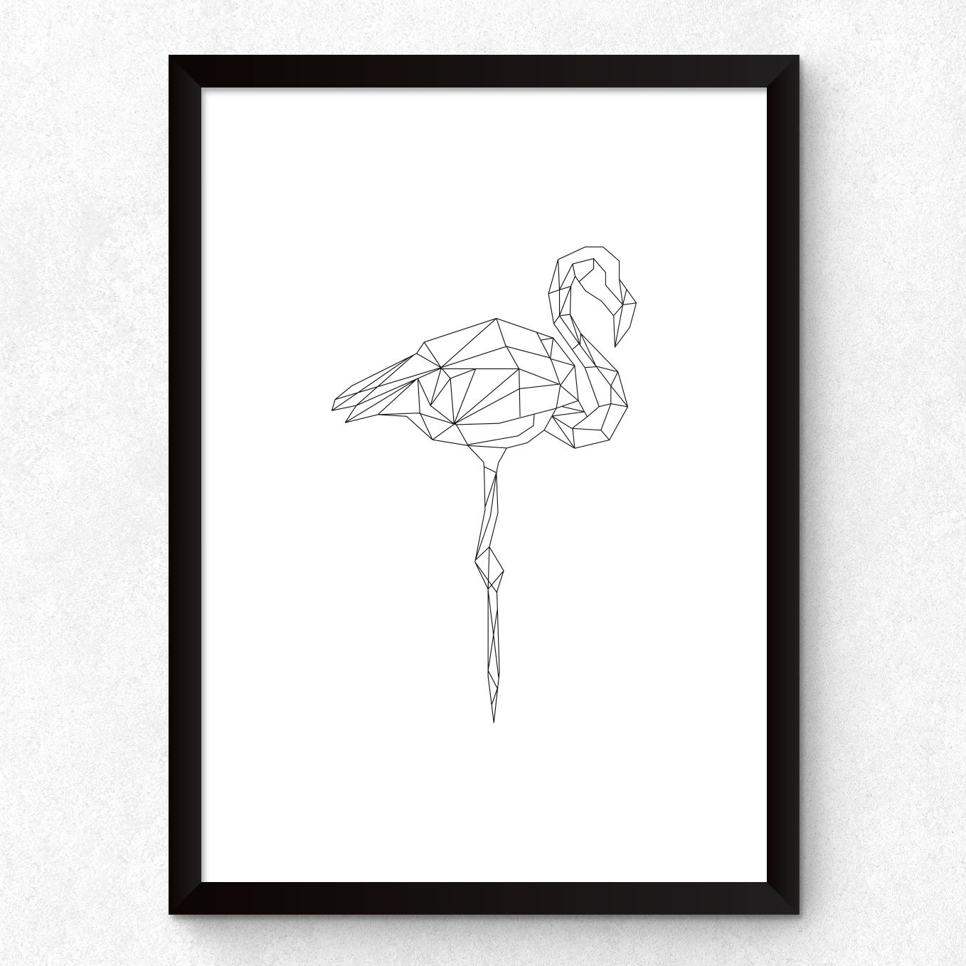 Quadro Decorativo Flamingo Minimalista