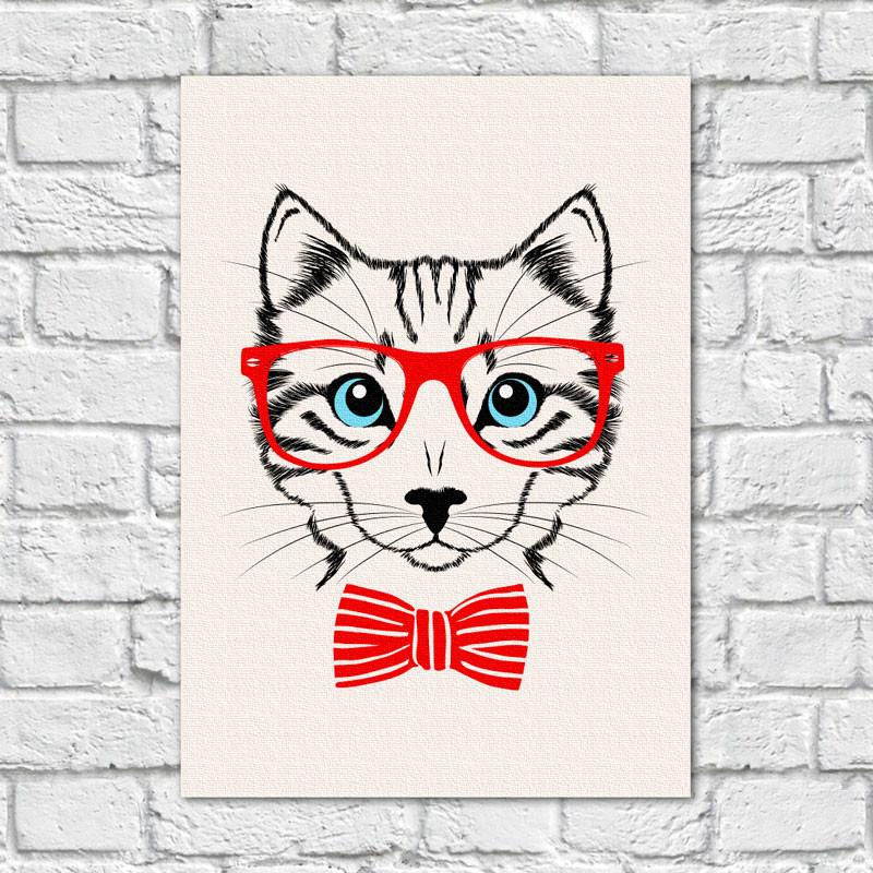 Quadro Decorativo Gato - Em Canvas