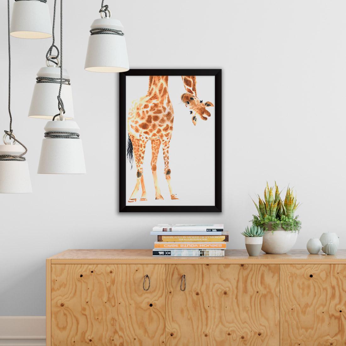 Quadro Decorativo Girafa Divertida