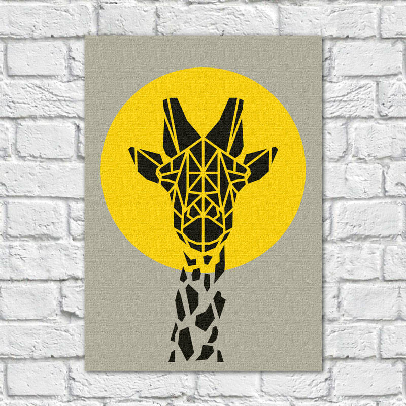 Quadro Decorativo Girafa - Em Canvas