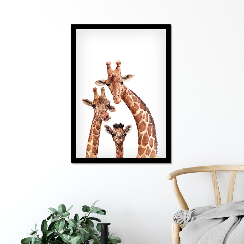 Quadro Decorativo Girafas Para Quarto