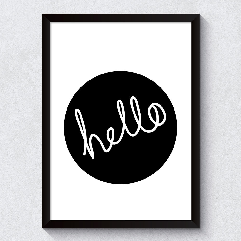 Quadro Decorativo Hello