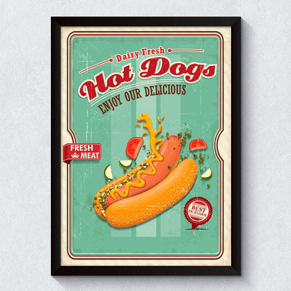 Quadro Decorativo Hot Dog