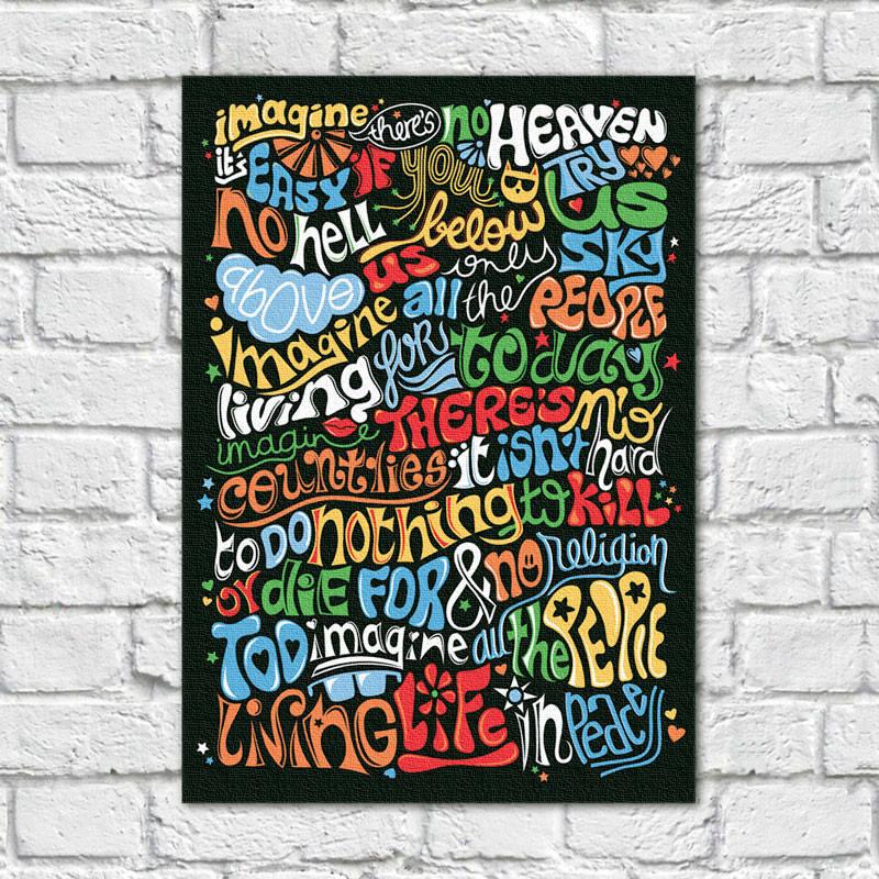 Quadro Decorativo Imagine John Lennon