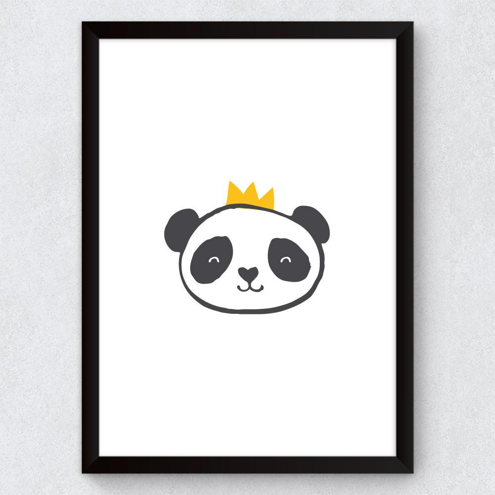 Quadro Decorativo Infantil Ursinho Panda