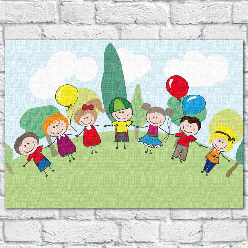 Quadro Decorativo Infantil Crianças - Em Canvas